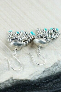 Turquoise & Sterling Silver Earrings - Jan Mariano