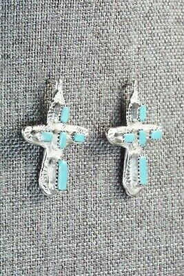 Turquoise & Sterling Silver Earrings - Cecilia Iule - High Lonesome Trading