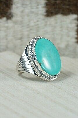 Navajo Turquoise and Sterling Silver Ring - Bobby Platero - 10.25