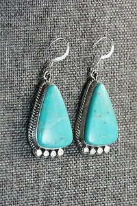 Navajo Turquoise & Sterling Silver Earrings - Sharon McCarthy
