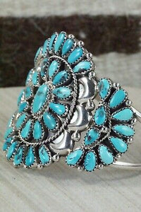 Turquoise and Sterling Silver Bracelet - Eunise Wilson