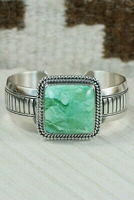 Navajo Turquoise and Sterling Silver Bracelet - Raymond Delgarito