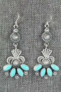 Turquoise & Sterling Silver Earrings - Michael Calladitto - High Lonesome Trading