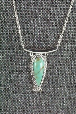 Turquoise & Sterling Silver Necklace - Sharon McCarthy