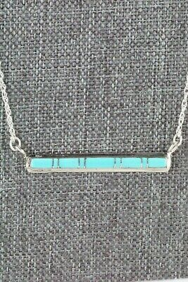 Turquoise & Sterling Silver Necklace - Rolanda Natachu