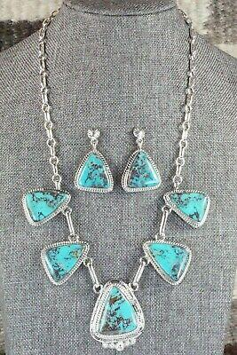 Turquoise & Sterling Silver Necklace - Raymond Delgarito