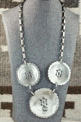 Sterling Silver Necklace and Earrings Set - Eugene Charley