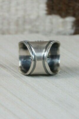 Navajo Sterling Silver Ring - Derrick Gordon - Size 9 - High Lonesome Trading