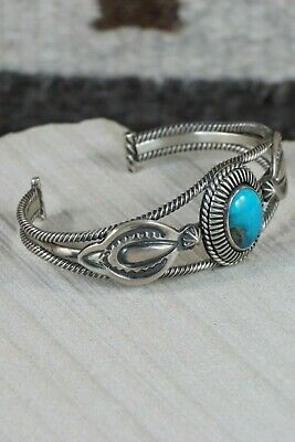Navajo Turquoise & Sterling Silver Bracelet - Native American - High Lonesome Trading