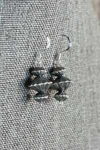 Navajo Sterling Silver Earrings - Preston Haley - High Lonesome Trading
