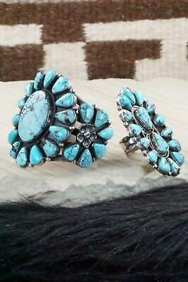 Turquoise & Sterling Silver Bracelet and Ring - Hemerson Brown
