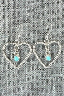Turquoise & Sterling Silver Earrings - Sylvia Chee