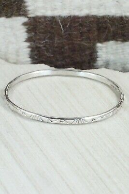 Sterling Silver Bangle Cuff - Elaine Tahe