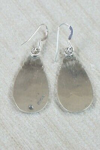 Navajo Sterling Silver Earrings - Charlie Yazzie - High Lonesome Trading