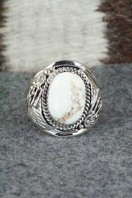 White Buffalo & Sterling Silver Ring - Leonard Spencer - Size 13