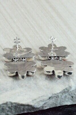 Spiny Oyster and Sterling Silver Earrings - Renelle Perry