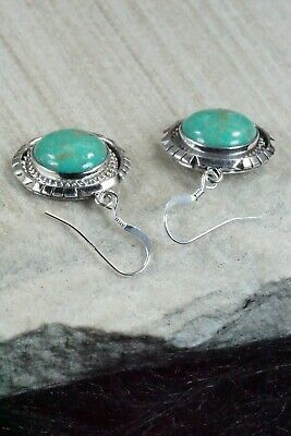 Turquoise & Sterling Silver Earrings - Amos Begay