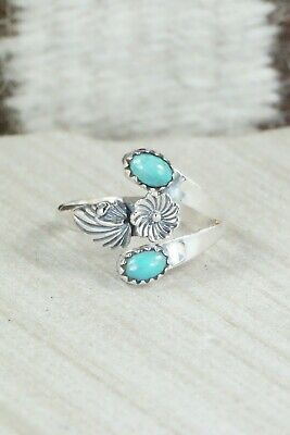 Turquoise & Sterling Silver Ring - Harris Largo - 10.5