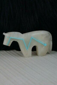 Horse Zuni Fetish - Bernard Laiwakete - Zuni Horse Carving - Native American - High Lonesome Trading