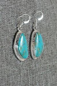 Turquoise & Sterling Silver Earrings - Lee Shorty - Navajo - High Lonesome Trading