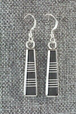 Onyx & Sterling Silver Earrings - Valentino Laate