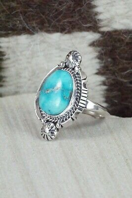 Turquoise & Sterling Silver Ring - Daniel Benally - Size 9