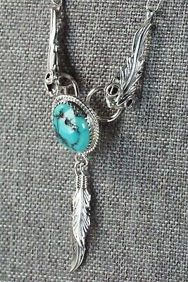 Turquoise & Sterling Silver Necklace - Lee Shorty