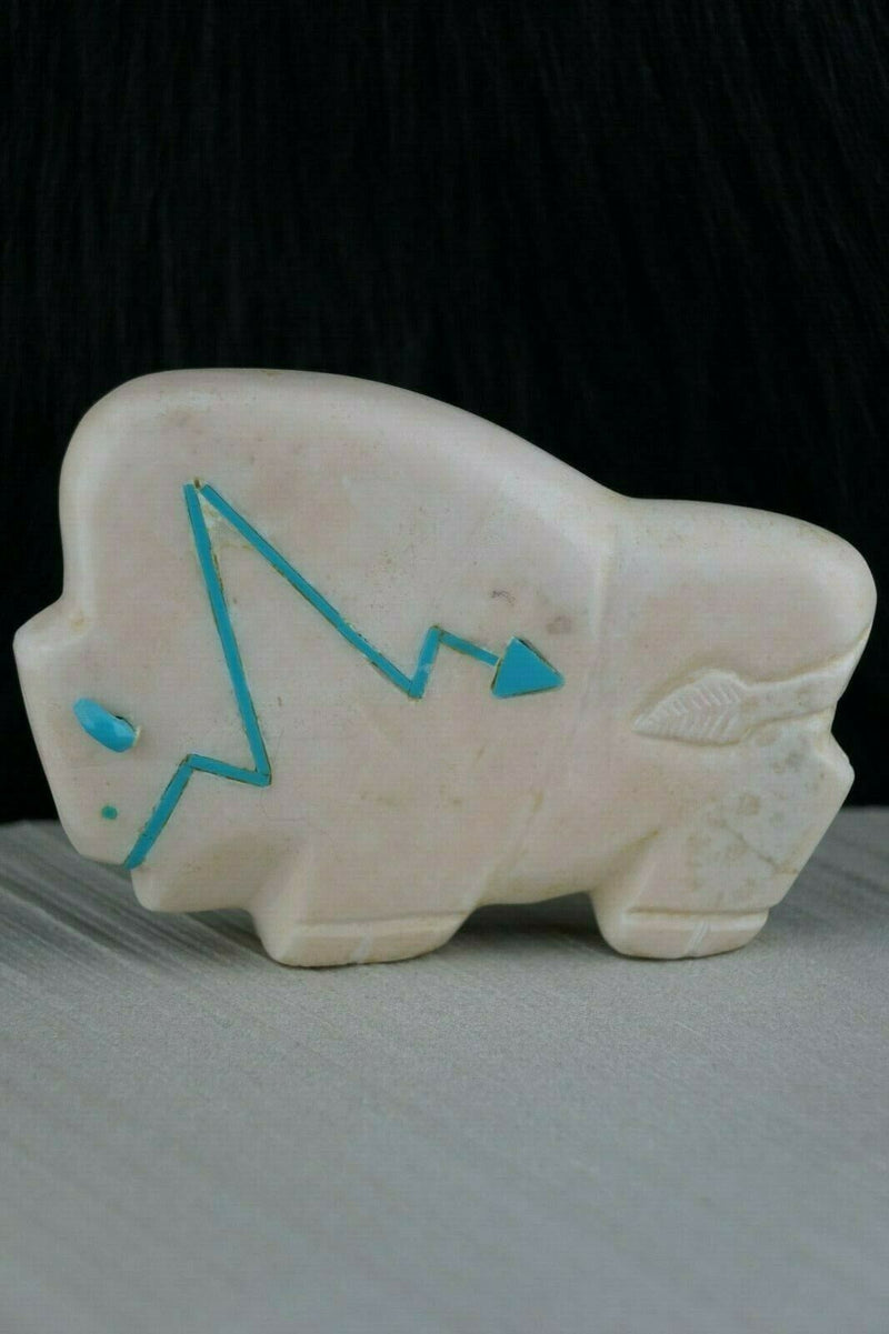 Buffalo Zuni Fetish Carving - Joshua Leki - High Lonesome Trading