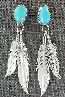 Turquoise and Sterling Silver Earrings - Sharon McCarthy
