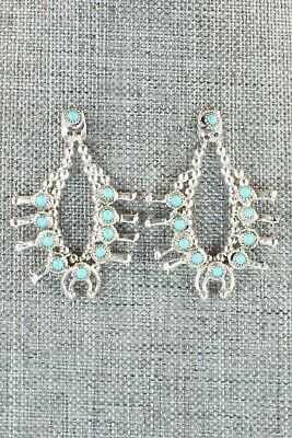 Turquoise & Sterling Silver Earrings - Larry Curley