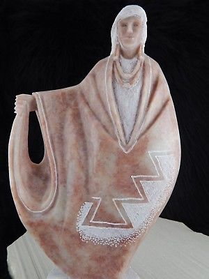 Navajo Women Sculpture - Leslie Pablo - High Lonesome Trading