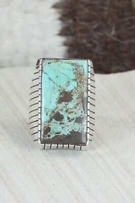 Turquoise and Sterling Silver Ring - Ray Jack - Size 10.5