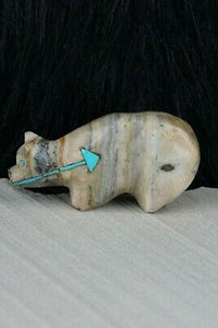 Bear Zuni Fetish Carving - Kevin Quam - High Lonesome Trading