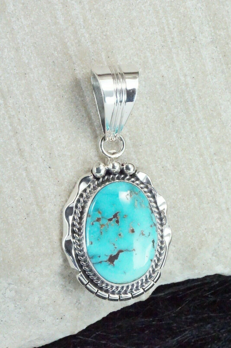 Turquoise & Sterling Silver Pendant - Samuel Yellowhair