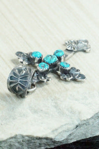 Turquoise and Sterling Silver Pendant - Eva & Linberg Billah