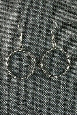 Navajo Sterling Silver Earrings - Nashina Tsosie - High Lonesome Trading