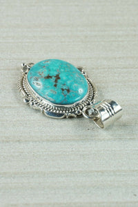 Navajo Turquoise and Sterling Silver Pendant - Daniel Benally