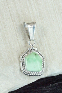 Turquoise and Sterling Silver Pendant - Samuel Yellowhair - High Lonesome Trading