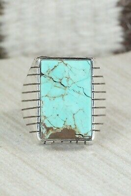 Turquoise and Sterling Silver Ring - Ray Jack - Size 12.75