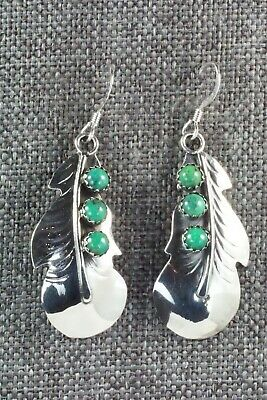 Turquoise & Sterling Silver Earrings - Genevieve Francisco