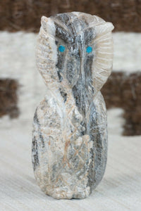 Owl Zuni Fetish Carving - Jonas Hastito - High Lonesome Trading