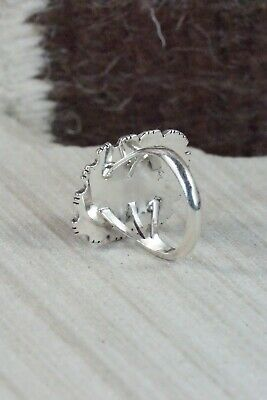 Spiny Oyster and Sterling Silver Ring - Andrew Vandever - Size 6.5