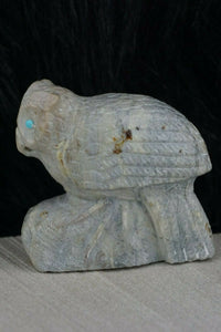 Owl Zuni Fetish Carving - Derrick Kaamasee - High Lonesome Trading