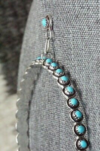 Turquoise and Sterling Silver Earrings - Florenda Lonasee
