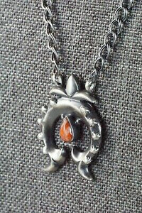 Spiny Oyster & Sterling Silver Necklace - Sharon McCarthy