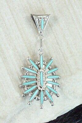 Turquoise & Sterling Silver Pendant - Colin Lalio