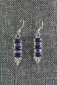 Navajo Lapis & Sterling Silver Earrings - Gary Shorty