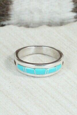 Turquoise & Sterling Silver Ring - Wilbert Muskett - Size 12 - High Lonesome Trading
