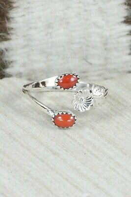 Coral & Sterling Silver Ring - Harris Largo - Size 12.5