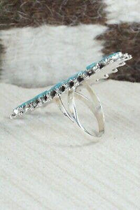 Turquoise & Sterling Silver Ring - Nathaniel Nez - Size 7.25 - High Lonesome Trading